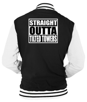 STRAIGHT OUTTA TILTED TOWERS VARSITY  - INSPIRED BY FORTNITE BATTLE ROYALE
